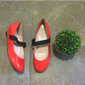 Marc by Marc Jacobs Red Patent Leather Wedges